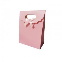12 boîtes cadeaux rose unies 12.5x6x16cm - 9739