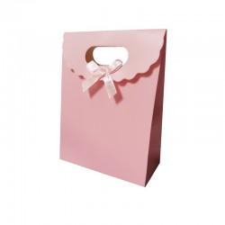 12 boîtes cadeaux couleur rose 19x9x27cm - 9741