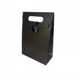 12 boîtes cadeaux couleur noire unie 19x9x27cm - 9742