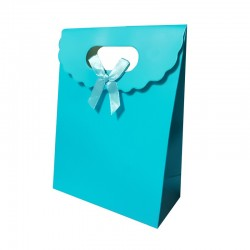 Lot de 12 boîtes cadeaux couleur bleu azur 24x12x31.5cm - 9743