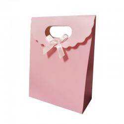 Lot de 12 boîtes cadeaux couleur rose 24x12x31.5cm - 9744