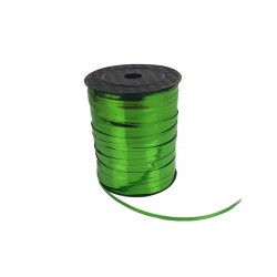 Rouleau de bolduc couleur vert sapin brillant - 9748