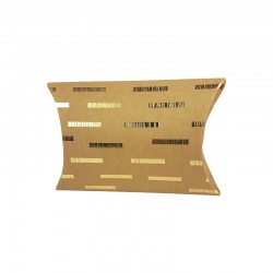 12 petites boîtes berlingot kraft motifs géométriques dorés 10x14x3cm - 9798