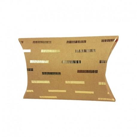 6 pochettes berlingot kraft motif géométrique doré 13x20x5cm - 9806