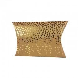 6 pochettes berlingot kraft motif petits pois dorés 13x20x5cm - 9813