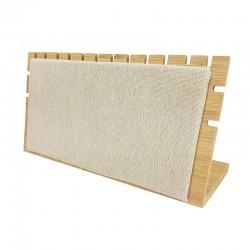 Présentoir bijoux pour chaînes en bois et coton beige - 9870