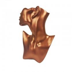 Buste bijoux femme tronqué couleur cuivre - 9904