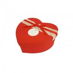 Petite boîte cadeaux en forme de coeur rouge 13x15x6cm - 9939p