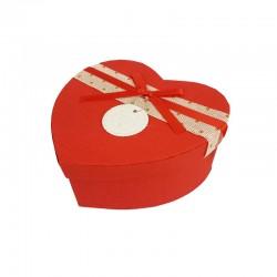 Boîte cadeaux en forme de coeur rouge 15x18x7.5cm - 9940m