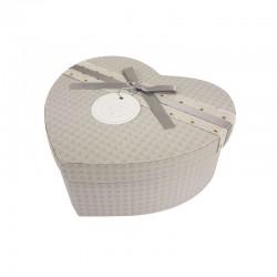Grande boîte cadeaux en forme de coeur gris 18x21x9cm - 9944g