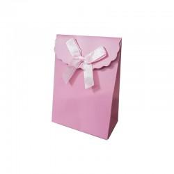 12 petites pochettes cadeaux bijoux rose 7.5x4x10.5cm - 9737