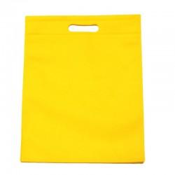 12 minis sacs non-tissés jaunes 14x20cm - 11023