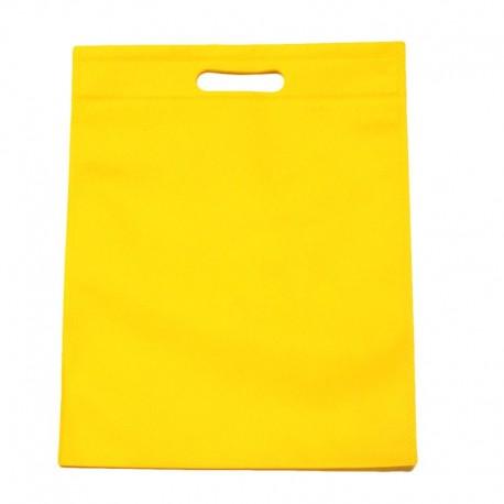 12 sacs non-tissés couleur jaune uni 25x33cm - 11025