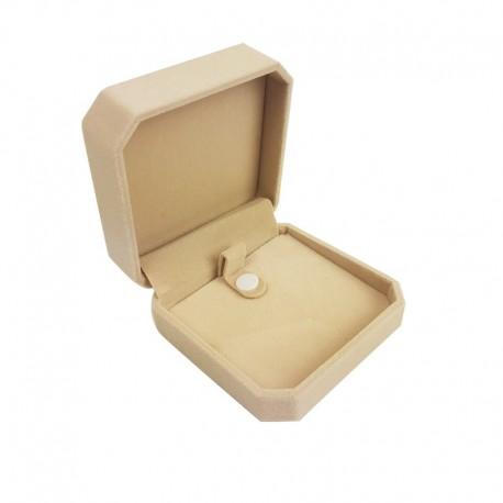 1 écrin en velours beige clair uni pour bracelet avec bouton pression - 10179
