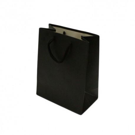 Lot de 12 grands sacs cadeaux noirs 31x12x42cm - 12063