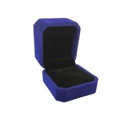 1 écrin en velours bleu roi uni pour bague ou boucles d'oreilles - 10185