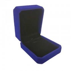 1 écrin en velours bleu roi uni pour chaîne et pendentif - 10187