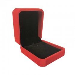 1 écrin en velours rouge uni pour chaîne et pendentif - 10183