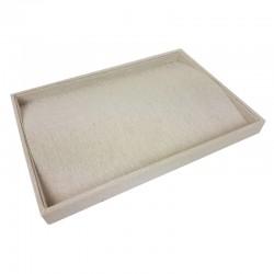 Plateau pour chaînes et colliers en coton beige naturel - 9503