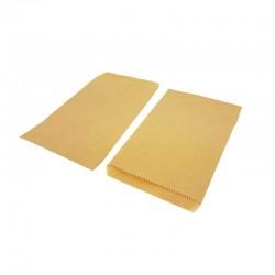 100 pochettes en papier kraft brun naturel 8x14cm - 8192