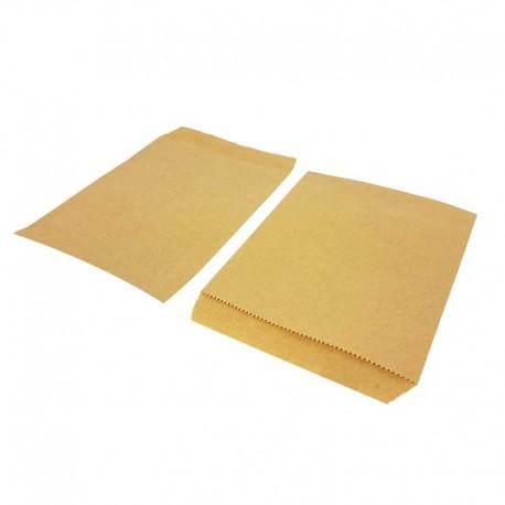 100 sachets cadeaux en papier kraft brun naturel 13x18cm - 8196