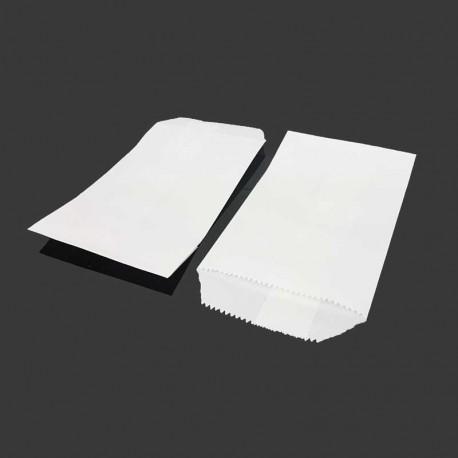 100 pochettes en papier kraft blanc 8x14cm - 8193