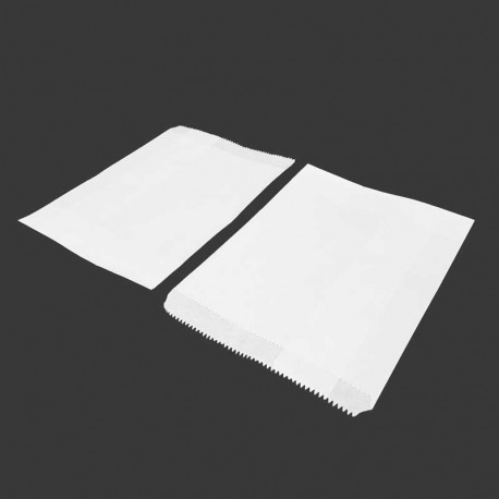 100 sachets cadeaux en papier kraft blanc 13x18cm - 8197