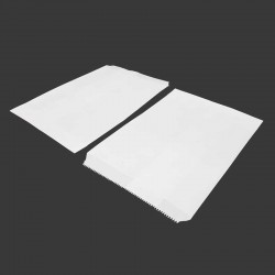 Lot de 50 sachets cadeaux en papier kraft blanc uni 16x23cm - 8199