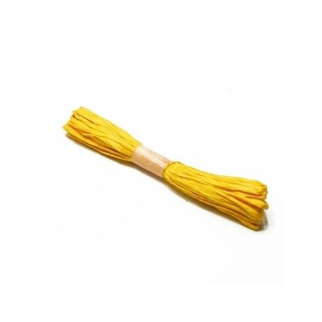 1 pelote crépon jaune - 3872