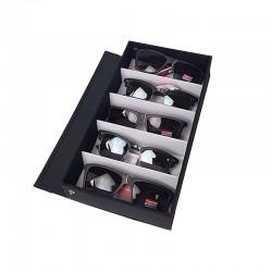 Petite valise à lunettes 5 cases 16x30x5cm - 11107