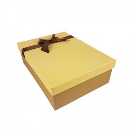 Coffret cadeaux de couleur marron café et beige savane 28.5x20x9cm - 11161m