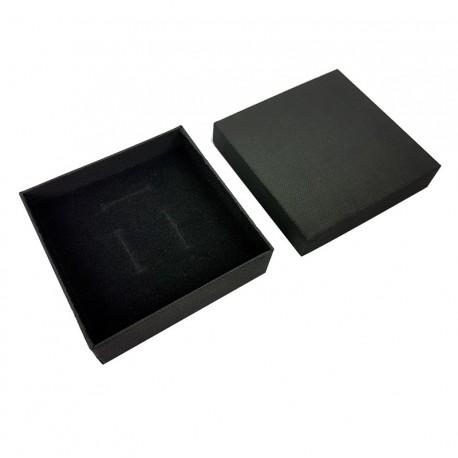 24 écrins à bijoux noirs pour parures 8.5x8.5cm - 10068