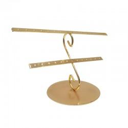 Porte bijoux en métal doré pour 14 paires de boucles d'oreilles